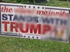 Vandals egg Oceanside home, deface Trump sign