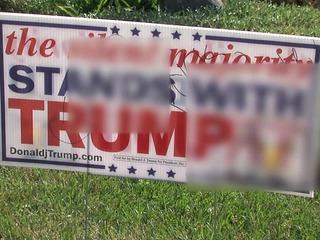 Vandals egg Oceanside home, deface Trump sign