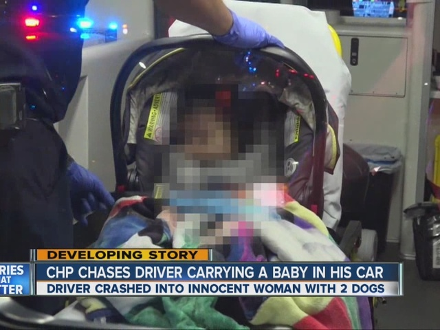 Street racing driver with baby T-bones car in City Heights