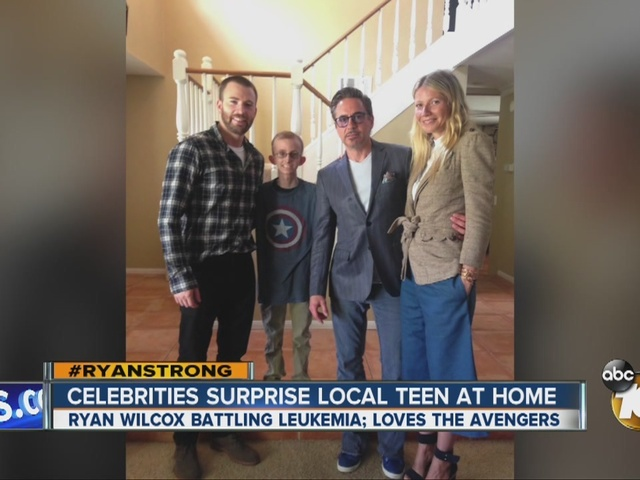 Celebrities surprise local teen battling leukemia