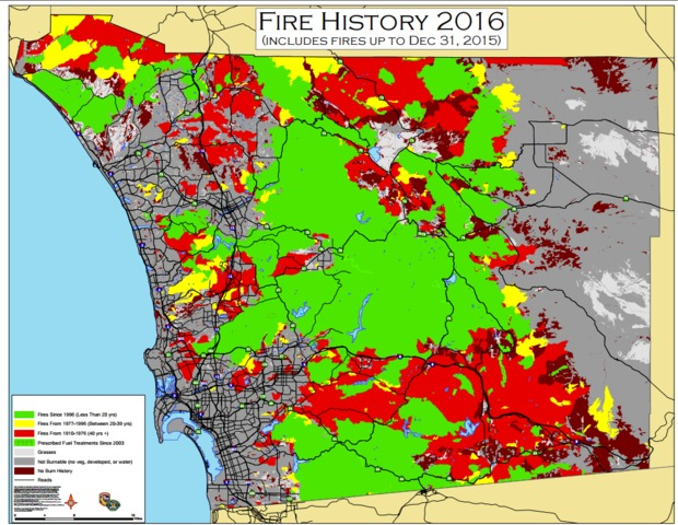 Cal Fire Map Wildfire Danger Zones In San Diego County