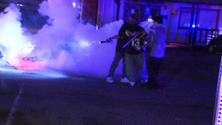 Violent protesters tear gassed in El Cajon