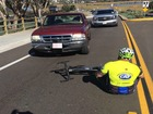 Driver knocks down cyclist during charity ride