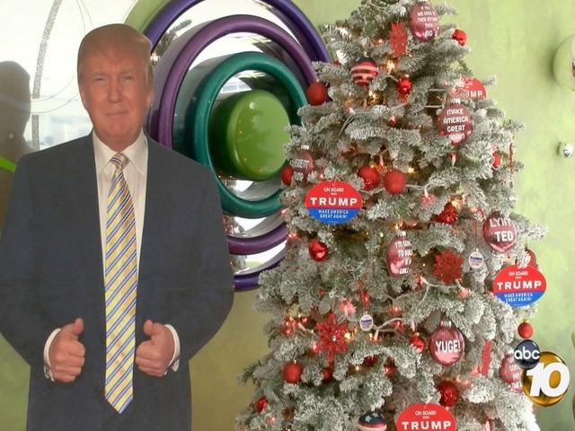 local couple creates trump themed christmas tree 10newscom kgtv tv san diego - Themed Christmas Trees
