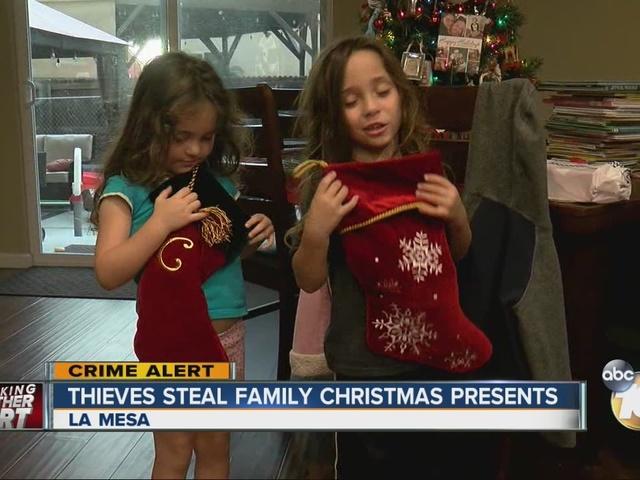 thieves steal family christmas presents 10newscom kgtv tv san diego
