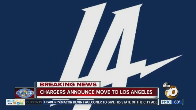 de70f2a4 It's official: Chargers moving to Los Angeles - 10News.com KGTV-TV ...