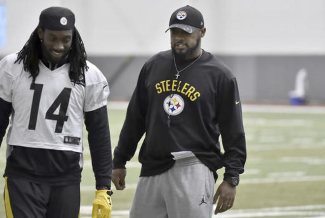 Prank against steelers suspected in early hotel fire alarm 10news pittsburgh steelers coach mike tomlin right talks to wide receiver sammie coates during the nfl football teams practice friday jan 20 2017 m4hsunfo