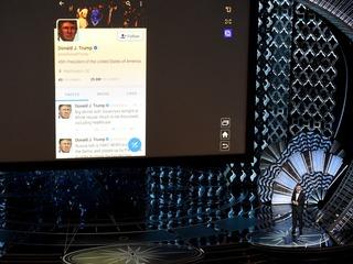 Kimmel tweets President Trump during Oscars show