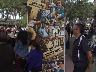 'No Border Wall' mural unveiled in San Diego