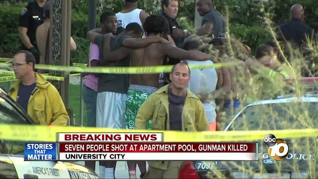7 shot during San Diego pool party; suspect dead