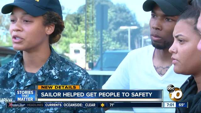 Sailor helped get people to safety