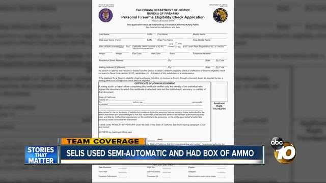 Gunman used semi-automatic and had box of ammo