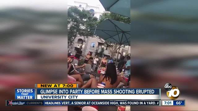 Glimpse into party before mass shooting erupted