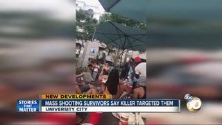 Shooting survivors: Gunman targeted us
