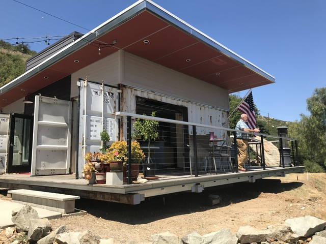 Mike and Shawn McConkey used three shipping containers for the foundation  of their San Diego home. Excluding the cost of the property, the 700 square  foot ...