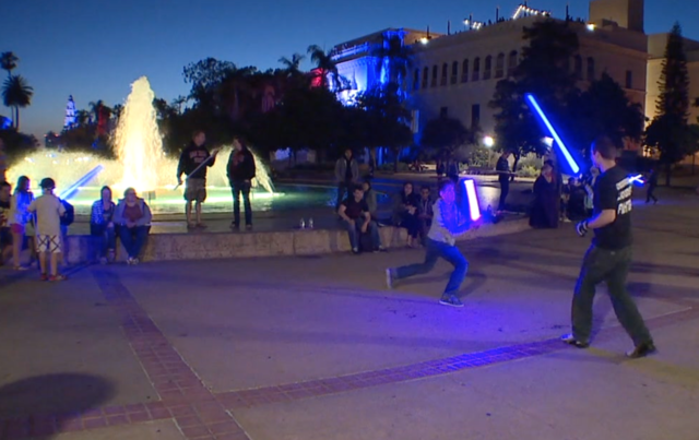 Watch Lightsaber Battles At Balboa Park 10news Com Kgtv