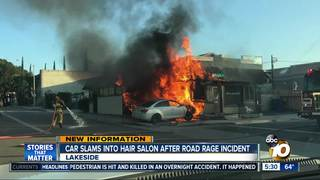 case of road rage causes fiery crash into lakeside salon 10news