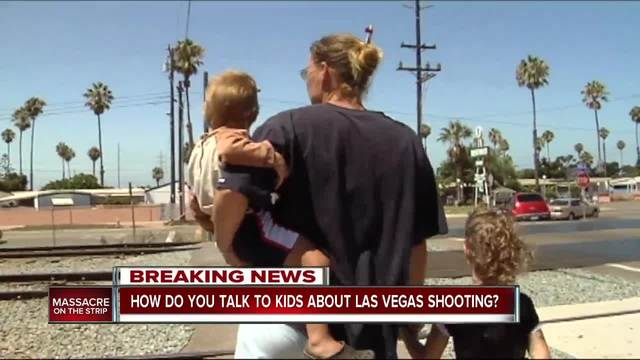 How do you talk to kids about Las Vegas shooting-