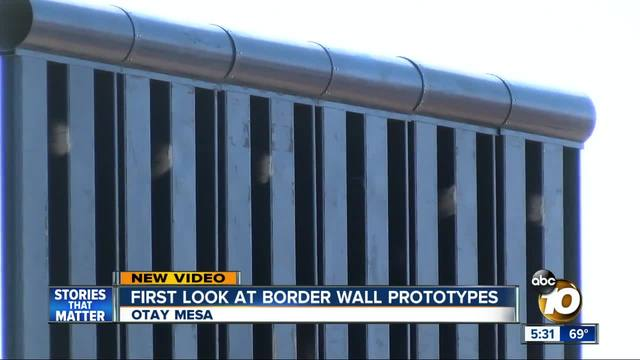 Border Wall Prototypes Under Construction in California