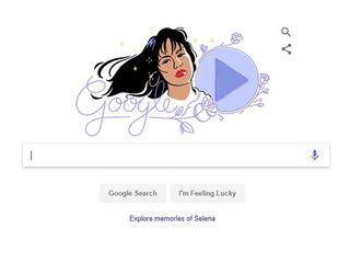 Late singer Selena gets Google Doodle tribute