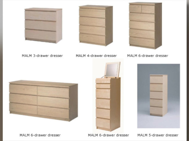 IKEA recalls Malm dressers following child safety concerns