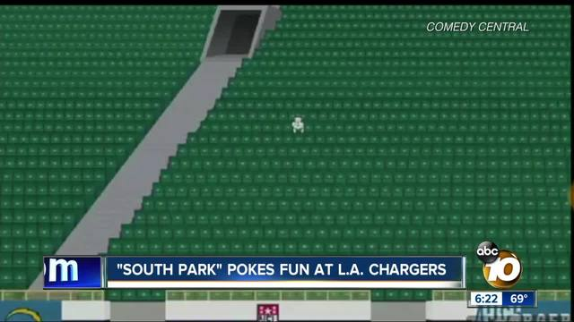South Park Rips Los Angeles Chargers Attendance 10news