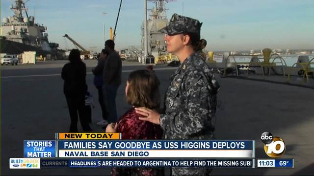 San Diego Ship USS Higgins deploys to the Middle East