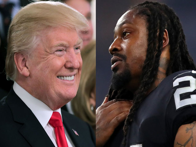 Trump wants Marshawn Lynch suspended for sitting during anthem