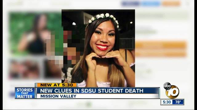 New clues in SDSU student death