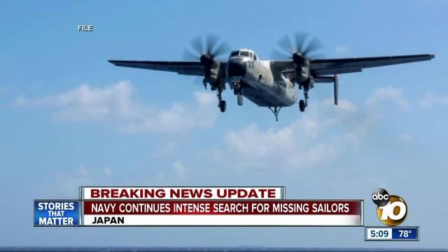 8 rescued- 3 missing in Navy aircraft crash