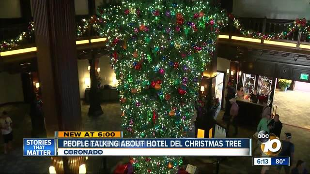 new take on old tradition hotel dels upside down tree - Upside Down Christmas Tree Decorated
