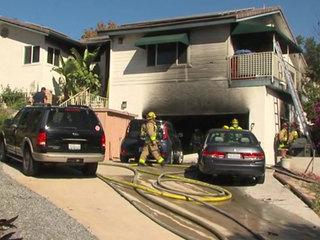 Fire scorches La Mesa home; man hospitalized