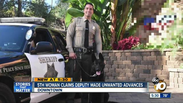 Fifth woman claims deputy made unwanted advances