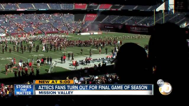 SDSU Aztecs fans turn out for final game of season