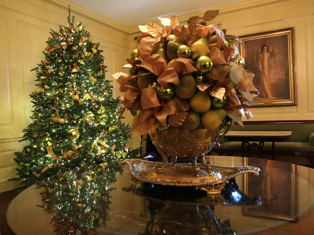 the vermeil room at the white house during a press preview of the 2017 holiday decorations november 27 2017 in washington dc the theme of the white house