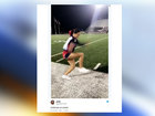 Cheerleader's 'walk on air' video goes viral