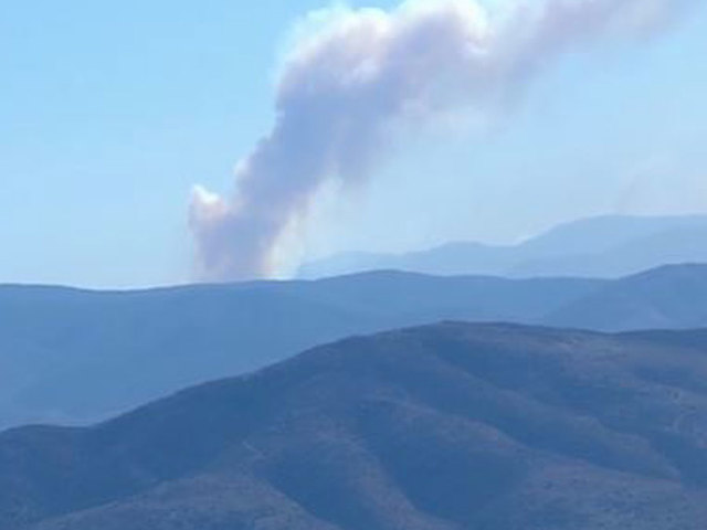 Moving fire triggers evacuations in San Diego County