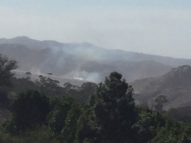 Lilac Brush Fire Spreads To San Luis Rey Downs