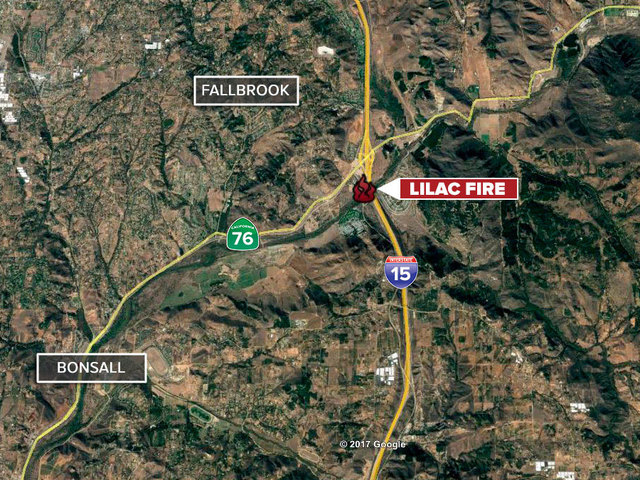 Brush Fire Breaks Along Interstate 15 Near Bonsall Tech2 Org