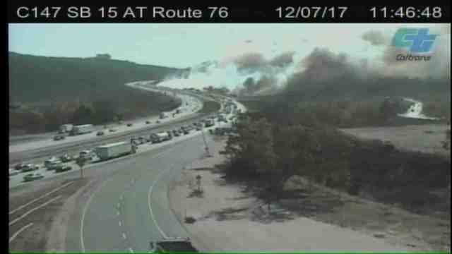 Lilac Fire: Wildfire Breaks Out In Fallbrook, San Diego