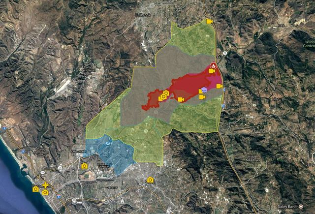 INTERACTIVE MAP Lilac Fire Rips Through North San Diego County - Maps Of Us Television Show Preference
