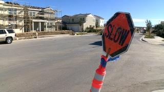 Methane slows construction of neighborhood