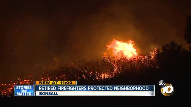 Retired firefighters protected neighborhood from Lilac Fire