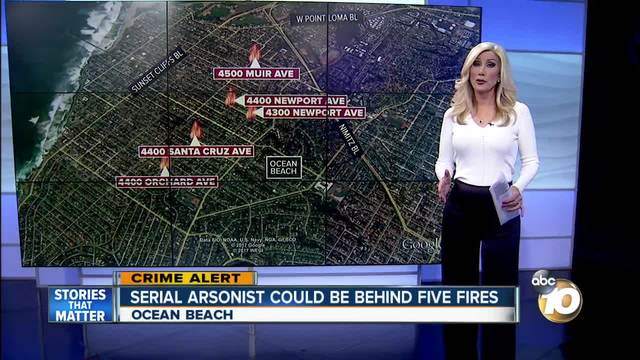 Serial arsonist could be behind five fires