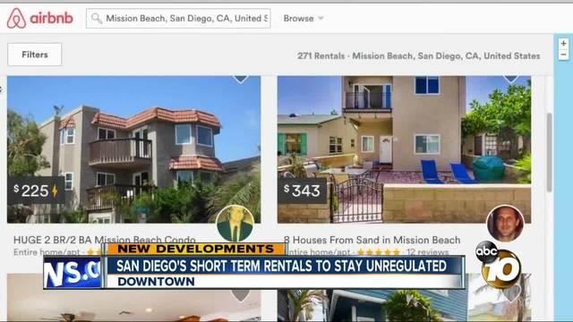 san diego city council again fails to agree on short term vacation