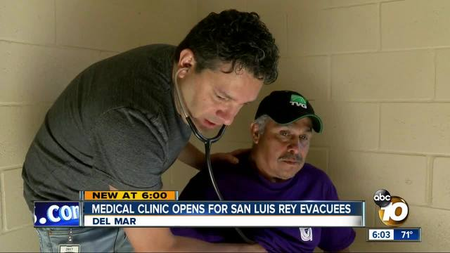 Medical clinic opens for San Luis Rey evacuees