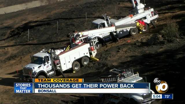Thousands Get Their Power Back in Bonsall