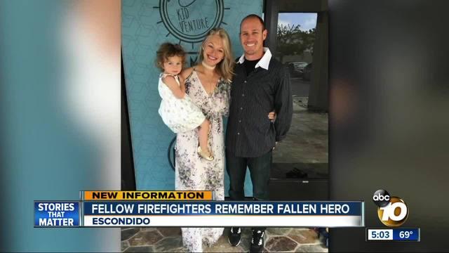 Fellow firefighters remember fallen hero