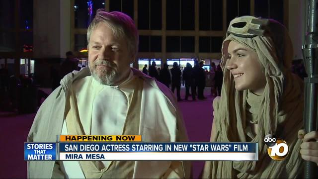 San Diego actress starring in new -Star Wars- film