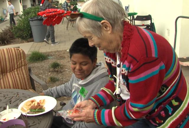 Seniors and child abuse survivors give hope to each other for the holidays